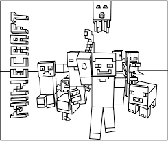 Free Coloring Pages For Girls Minecraft Cutouts The Color Panda