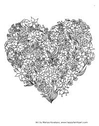 Valentine Stained Glass Coloring Pages Printable Coloring Page For