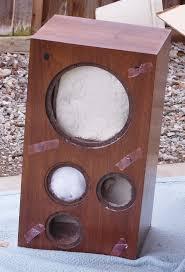 speakers in box. heathkit as-1373 3-way bookshelf speaker empty cabinets new in box w/ speakers