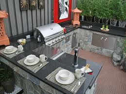 various outdoor kitchen countertops at 13 countertop options