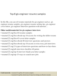 Resume Gis Free Resume Example And Writing Download