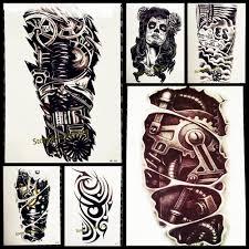Acquista Cool Robot Braccio Tatuaggio Temporaneo Uomo Body Art