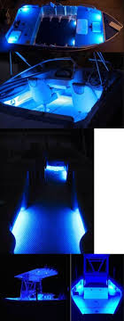 led boat lighting wflb waterproof flexible light bars give this boat a beautiful blue glow fishing hunting led boat lights boat lights and