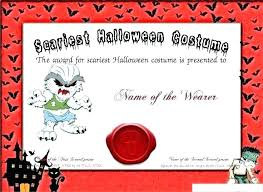 Costume Contest Certificate Template Certificate Templates With For Create Astonishing Costume