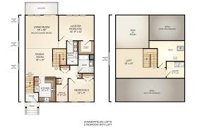 2 bedroom with loft house plans