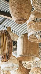 Woven Ceiling Light Shade Modern And Contemporary Rattan Wicker Woven Pendant Light To