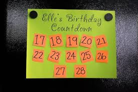 Two Weeks Before The A Birthday Make A Countdown Chart And