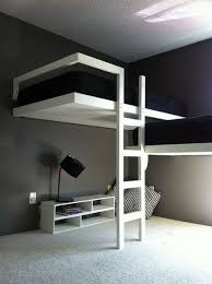 loft bed designs for teenage girls.  For White And Black Bunk Beds Sets With Stairs In Modern Teenage Bedroom Design  Ideas On Loft Bed Designs For Girls