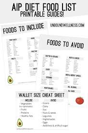 Aip Diet Food List With A Free Printable Pdf Unbound