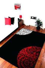 red black and white rug area large big w rugs grey