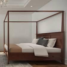 Simply Solid Araceli Solid Wood Canopy Storage Bed - Walmart.com