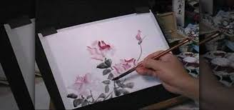 how to paint roses with wet in wet watercolors on rice paper painting tips wonderhowto