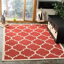 red patterned rug living room luxury safavieh courtyard moroccan pattern red bone indoor outdoor