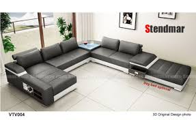 Modern leather couch Black Leather 4piece Modern Leather Sectional Sofa Set S1004 Ebay 4piece Modern Leather Sectional Sofa Set S1004 Ebay