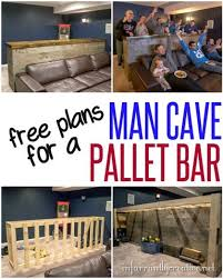 Woodworking Plans | DIY Man Cave Pallet Bar ~ It cost about $135 to build  this
