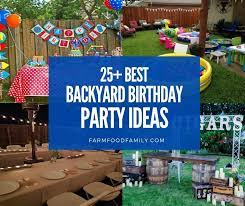 backyard birthday party ideas