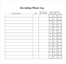 Phone Log Sheet Template Free Call Telephone Thaimail Co