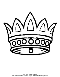 Small Picture Crown Free Coloring Pages for Kids Printable Colouring Sheets