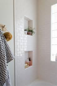 bathroom niches: love the way these little niches have been added to the design in this bathroom