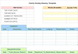 Trip Schedule Template Printable Trip Planner Template Download Them Or Print