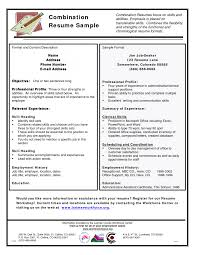 Cover Letter Combination Resume Example Sample Of Combination