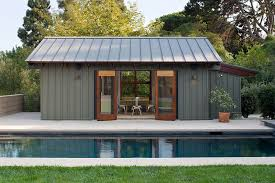 pool house. Plain Pool Smart Modern Pool House In Steely Gray Design KAA Design Inside Pool House