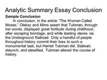 harriet tubman conclusion of an essay coursework help  harriet tubman a 4 paragraph academic essay example