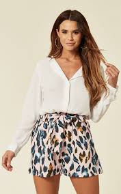 Dora Leopard Print Pink Shorts By Blue Vanilla