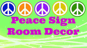 Peace Sign Bedroom Decor Diy Peace Sign Room Decor Youtube