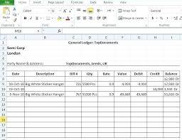 Accounting Ledger Templates Basic Accounting Template Free General Ledger Templates For