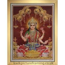 dess maha lakshmi padmhastayeh picture frame in size 20 x 14 inches