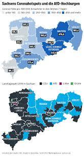 Der aktuelle stand heute am 01.03.2021. Corona Zahlen Am Schlimmsten In Afd Hochburgen In Sachsen Regional Bild De