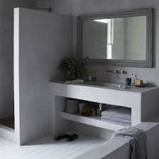 Soft grey Moroccan style bathroom