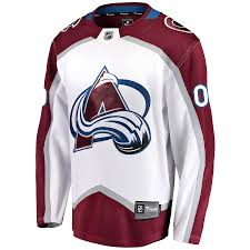 Custom Colorado Breakaway Away White Avalanche Fanatics Jersey Men's Branded