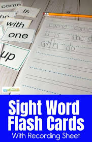 The flash cards set base colors includes english words: Free Printable Sight Word Flashcards
