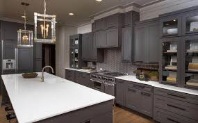 grey cabinets in a modern kitchen