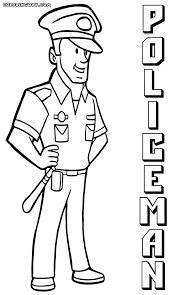 Police Officer Coloring Pages Coloring Pages To Download And Print