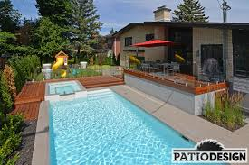 patio with pool. Perfect Patio Patio With Inground Pool By Design Inc Intended With Pool O