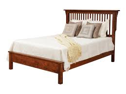Daniel's Amish Lewiston Queen Solid Wood Slat Bed with Low Footboard ...