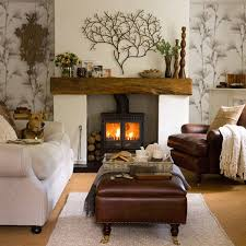 beautiful fireplace decoration ideas with painting design wooden candle holders