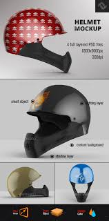 full face helmet mockup by fusionhorn graphicriver