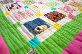 How to Make a Baby Clothes Quilt   FaveQuilts.com &  Adamdwight.com