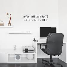 office wall stickers. Office Wall Decal. Ctrl Alt Del Decal Inspirational Quotes For C Stickers