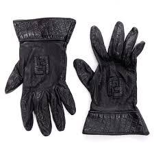 vintage fendi monogram black leather las gauntlet gloves for at 1stdibs