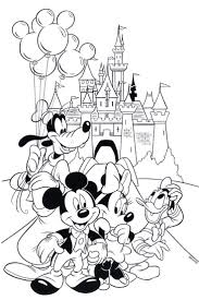 Free Disney Coloring Page Features Cinderella S Castle And All The