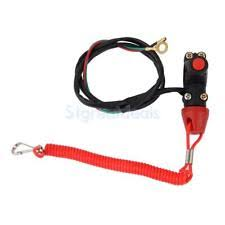 engine kill switch engine cord lanyard kill stop switch safety tether for yamaha atv motorcycle