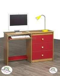 computer desk life line cognac computer desk w red washable vinyl fronts