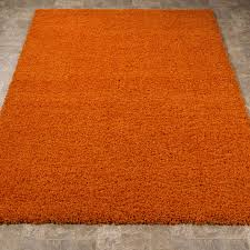 ottomanson ultimate collection solid contemporary living and bedroom area rug orange 3 3 x4 7 ottomanson