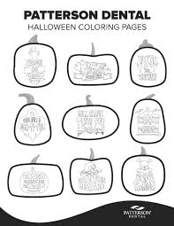 9 Free Halloween Coloring Pages Featuring