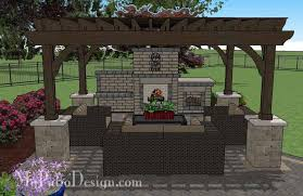 paver patio with pergola. Perfect With Rear Paver Patio Design With Pergola Fireplace And Bar 8 In With Pergola V